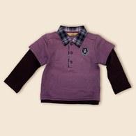 KA休閒POLO男童上衣-紫色