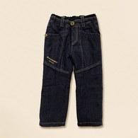 KA休閒棉質仿牛仔褲-藍色
