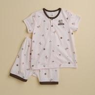 KA小熊滿版短套裝-粉色