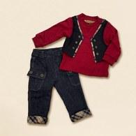 KA假二件式背心上衣+褲子套裝-共二色