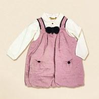 KA白色上衣+滿版熊熊洋裝-共二色