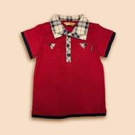 KA休閒款配色POLO衫 (紅色)