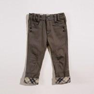 KA秀士萊卡反折格紋長褲(共二色)