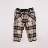 KA經典熊熊口袋格紋長褲