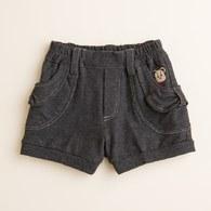 KA仿牛仔造型口袋短褲