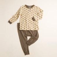 【最後現貨】KA滿版印小熊長袖套裝