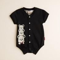 KA疊疊熊短袖包屁衣(共二色)