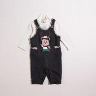 KA聖誕熊背心褲套裝(共二色)