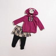 KA發熱紗格女童連帽套裝(共二色)