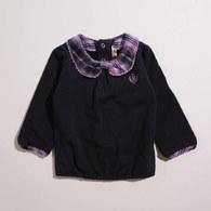 KA經典格紋小圓領上衣(共二色)