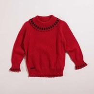 KA純棉配色翻領女線衫(共二色)