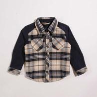 KA雙層格紋厚款男襯衫