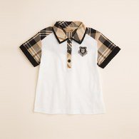 KA男生格紋配色POLO衫