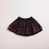 KA網紗格紋短裙(共二色)