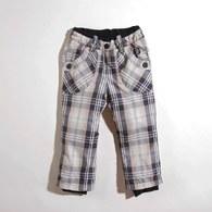 KA超細纖維格紋裡刷毛長褲