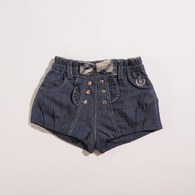KA蝴蝶結排釦裝飾超短褲