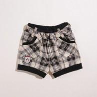 KA倒立熊格紋束口短褲