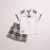 KA莫代爾格男童套裝-附領結(共二色)