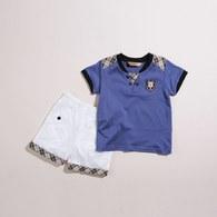 KA長纖維棉男童短褲套裝(共二色)