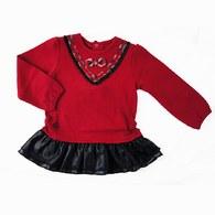 KA雙層荷葉裙襬上衣