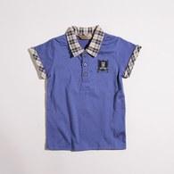 KA格紋領PIMA棉上衣(共二色)