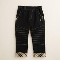 KA水洗反折格紋長褲(共二色)