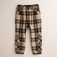 KA後熊頭口袋格紋長褲