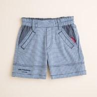 KA萊卡細橫紋男童短褲