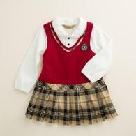 KA學院風女童裙子套裝(共二色)