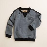 KA袖子橫條紋休閒上衣(共二色)