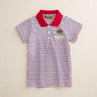 KA細彩條POLO衫