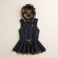 KA結紗牛仔細絨配色洋裝(共二色)