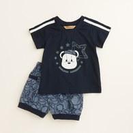 LOGO熊印花褲套裝