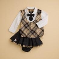 KA學院氣息女童裙子套裝(共二色)
