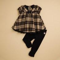 KA經典格紋氣質女童套裝 (共二色)