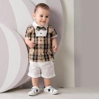 KA紳士小領結經典格紋套裝