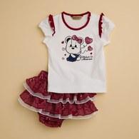 KA愛心女熊蛋糕裙套裝