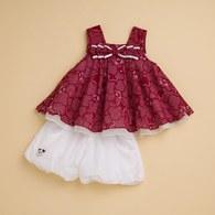 KA隱格熊背心裙女童套裝