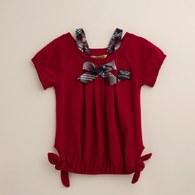 KA假兩件式配紅藍格女上衣