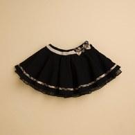 KA典雅波浪網紗短裙