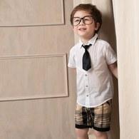 KA休閒格紋男童短褲