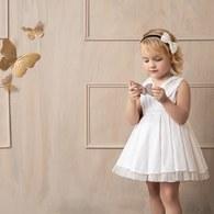 KA女童經典白色禮服