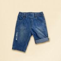 KA牛仔丹寧五、六分褲(藍色)