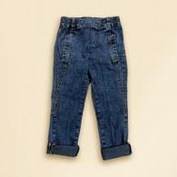 KA牛仔丹寧長褲(藍色)