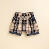 KA經典格紋短褲(卡色)