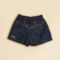 KA夏日抓邊女童短褲(藍色)