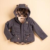 KA保暖紗戴帽熊暖暖外套(灰色)