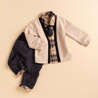 KA經典配格小領帶男套裝(共二色)