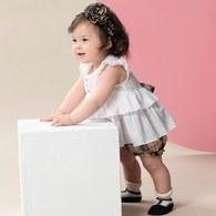 KA經典卡格+優雅上衣套裝(白色)