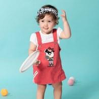 KA休閒網球公主吊帶裙套裝(共二色)